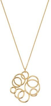 Polished Circle Cluster Pendant Necklace in 14K Yellow Gold, 17.75 - 100% Exclusive