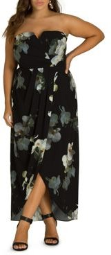 Orchid Dreams Strapless Maxi Dress