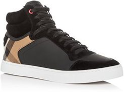 Reeth Leather High-Top Sneakers