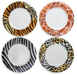 Into the Jungle Animal Patterned Service Plates/Chargers - Set of 4 - 100% Exclusive