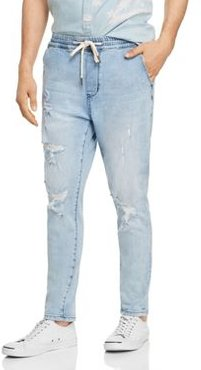 Ziggy Cruiser Skinny Fit Jogger Jeans in Blue Shatter