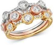 Diamond Bezel-Set Band in 14K White, Yellow & Rose Gold, 0.95 ct. t.w. - 100% Exclusive