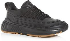 Lace Speedster Leather Low-Top Sneakers