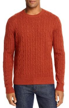 Cable Knit Wool Crewneck Sweater