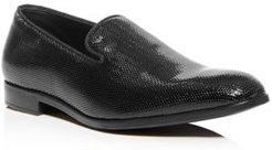 Embossed Patent Leather Smoking Slippers