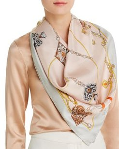 Jewel Print Silk Scarf - 100% Exclusive
