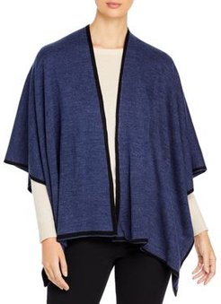 Solid Knit Reversible Ruana - 100% Exclusive
