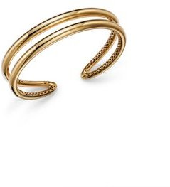 14K Yellow Gold Double Row Bangle Bracelet - 100% Exclusive