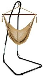 Caribbean Extra Large Hammock Chair with Adjustable Stand