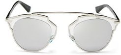 So Real Mirrored Sunglasses, 48mm