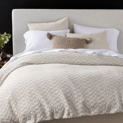 Organic Cotton Undyed Crystal Cove Duvet Cover, King