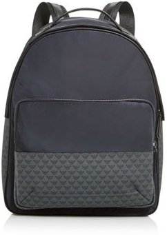 Emporio Armani Nylon Tonal Logo Backpack