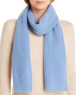 Waffle-Knit Cashmere Scarf - 100% Exclusive