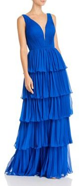 Pleated Tier Gown