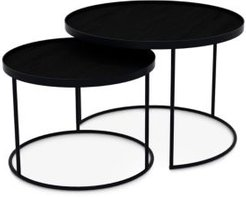 Notre Monde Round Tray Tables, Set of 2