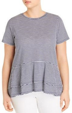 Cotton Striped Tiered Top