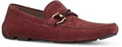 Front 4 Suede Slip On Driver Mocassins - Wide