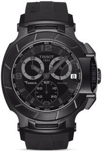 T-Race Men's Black Quartz Chronograph Sport Watch, 50mm