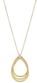 18K Yellow Gold Cairo Pendant Necklace with Diamonds, 16.5