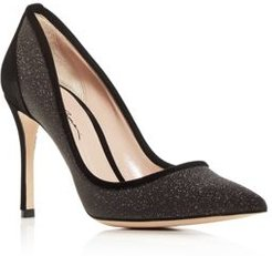 Decolette Kitten-Heel Pumps