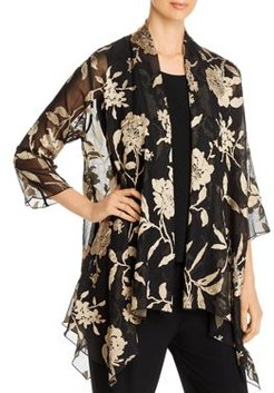 Floral Burnout Swing Jacket