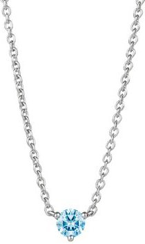 Solitaire Lab-Grown Diamond Pendant Necklace in Sterling Silver, 18
