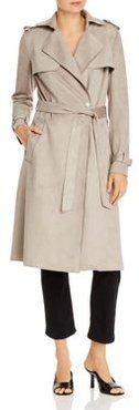 Mel Faux-Suede Trench Coat