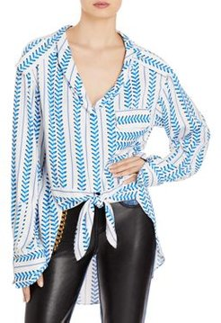 Erin Tie Front Blouse