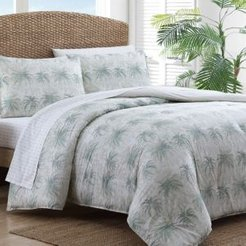 Distressed Palm Green King Comforter Set