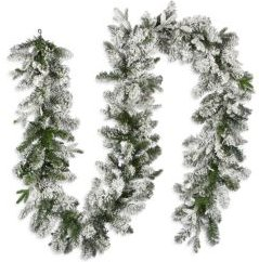 9' Feel Real(R) Iceland Fir Battery Operated Lighted Garland
