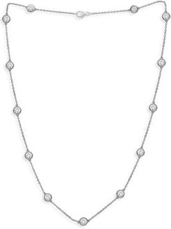 Diamond Bezel Station Necklace in 14K White Gold, 4.0 ct. t.w. - 100% Exclusive