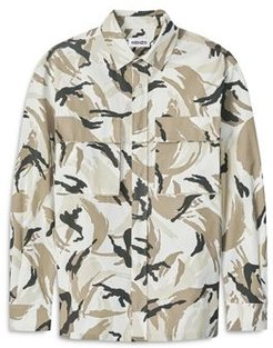 Cotton Blend Ripstop Camouflage Over Shirt