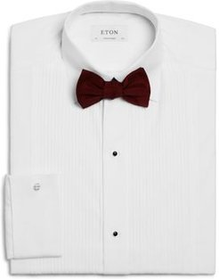 Contemporary Fit Textured Plisse Bib Formal Tuxedo Shirt