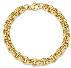14K Yellow Gold Polished Rolo Link Bracelet - 100% Exclusive