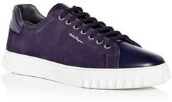 Cube Leather & Suede Low-Top Sneakers