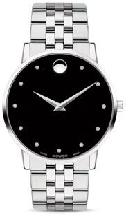 Museum Classic Stainless Steel Diamond-Index Watch, 40mm