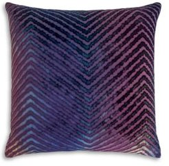 Chevron Velvet Decorative Pillow, 20 x 20