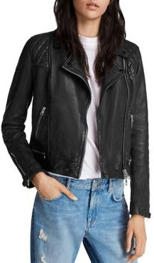 Conroy Quilted Leather Biker Jacket