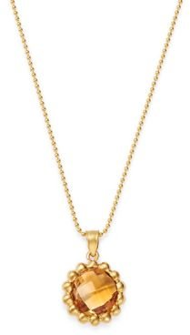 Citrine Beaded Pendant Necklace in 14K Yellow Gold, 18 - 100% Exclusive