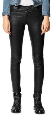 Phlame Crinkled-Leather Pants