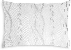 Cable Knit Velvet Decorative Pillow, 14 x 20