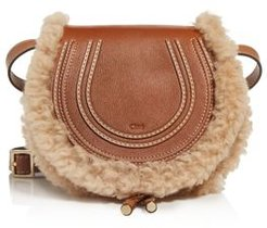 Marcie Small Leather & Shearling Crossbody