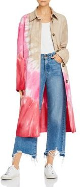 Cappotto Tie-Dyed Trench Coat