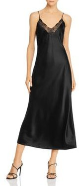 Katy Silk-Satin Midi Slip Dress