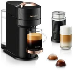 Vertuo Next Premium Coffee and Espresso Maker by DeLonghi with Aeroccino Milk Frother, Black Rose Gold