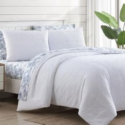 Textured Waffle White King Comforter Set