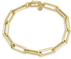 14K Yellow Gold Extra Large Paper Clip Chain Bracelet