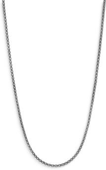 Sterling Silver Classic Box Chain Necklace, 22