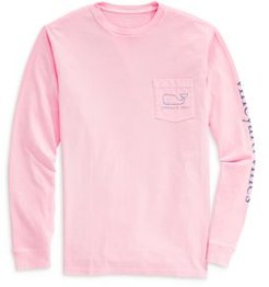Long Sleeve Garment Dyed Vintage Whale Tee