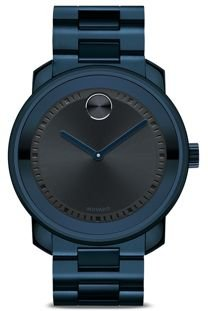 Bold Large Watch with Navy Dial, 42.5mm